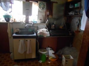 台所の整理前