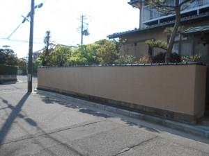 門壁をシリコン塗装二度塗り