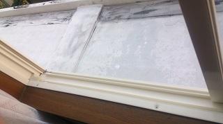 窓サッシ清掃