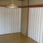 アコーディオンカーテン設置